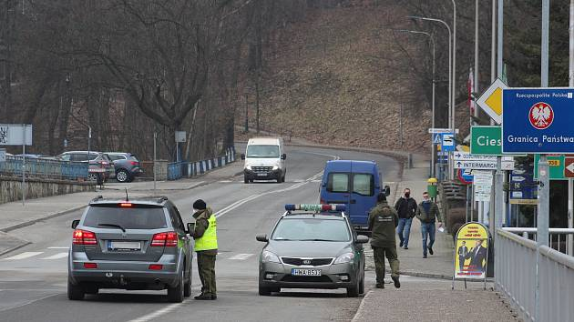 Česko-polská hranice v Českém Těšíně.