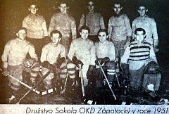 Výstava o historii hokejového klubu AZ Havířov.