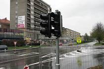 Nové semafory v křižovatce Dlouhé a Národní třídy v centru Havířova.