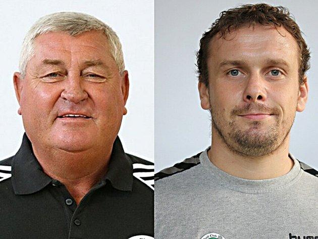 Odvolaný prezident HCB OKD Karviná Pavel Halada (vlevo) a nový prezident klubu Roman Farář.