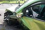 Tragická dopravní nehoda v Horní Suché.