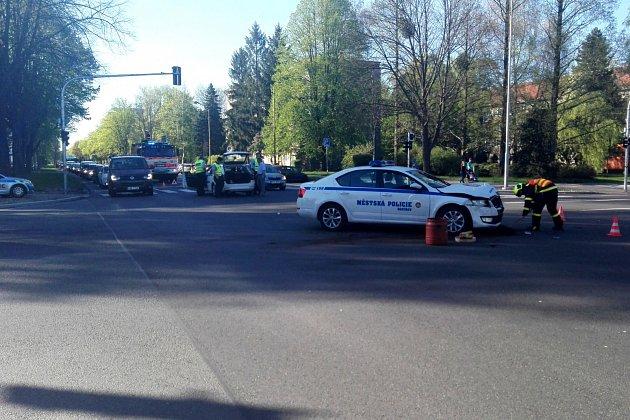 Nehoda havířovské městské police.