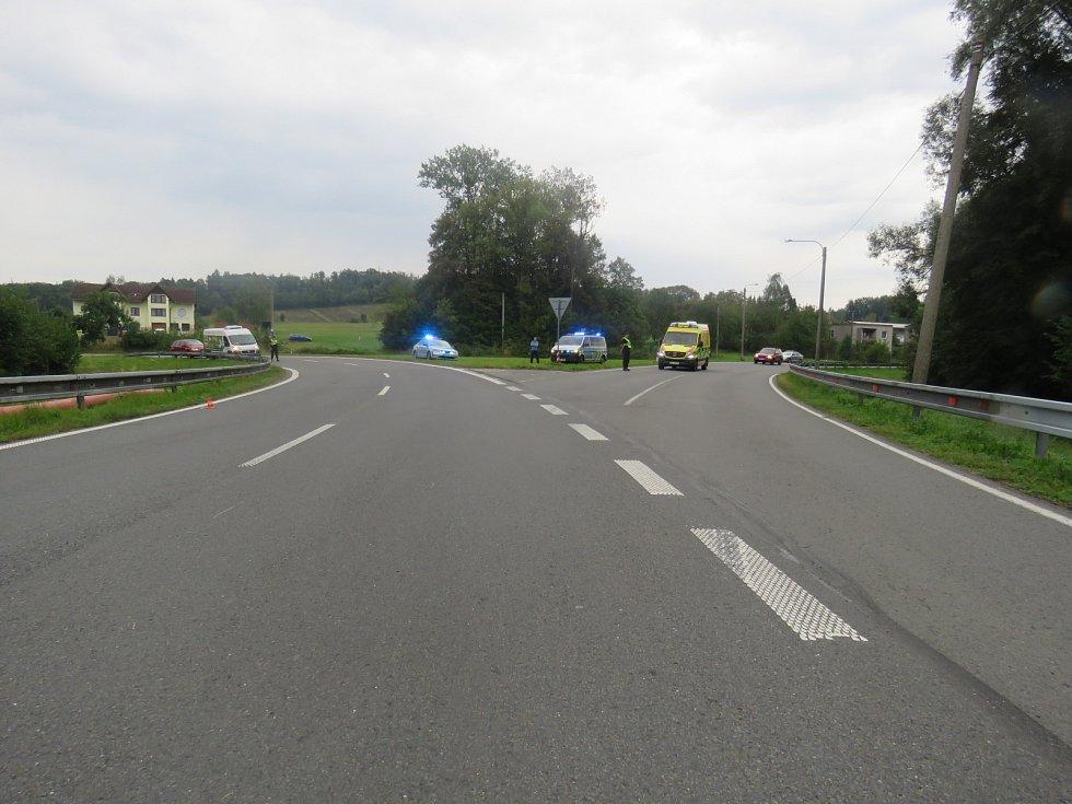 Místo dopravní nehody v Těrlicku.