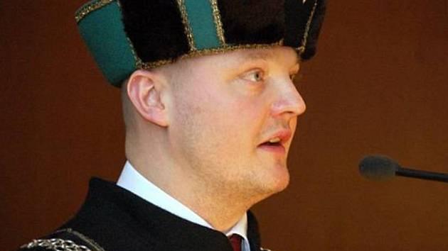 Bohumil Fiala po zvolení děkanem v roce 2007.