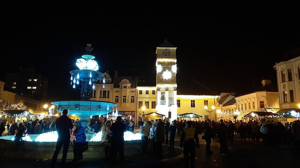 Masarykovo náměstí v Karviné, zima 2019.