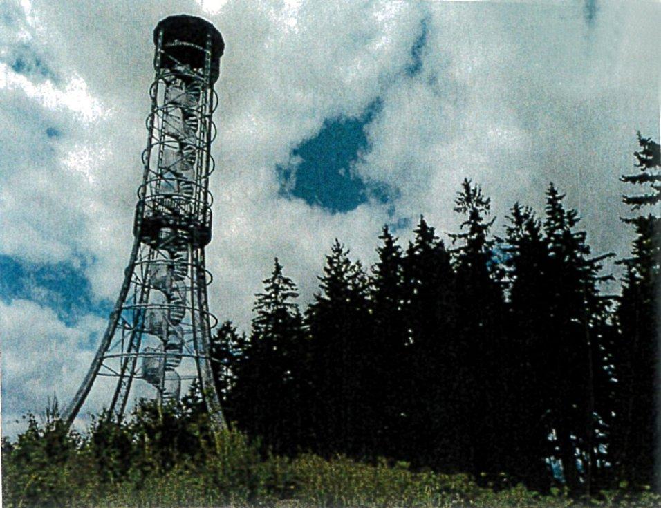 Takto nějak by měla vypadat rozhledně na Něbrojově kopci v Dětmarovich. Stejná věž už stojí v Rokycanech.