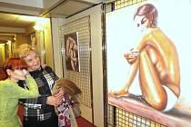 Vernisáž výstavy obrazů Terezy Dolanské.