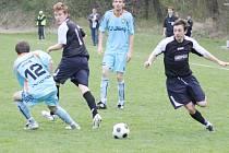 Petr Przywara (vpravo) vstřelil v posledním zápase dva góly, ale ani to nepomohlo Horní Suché k výhře.