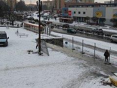 Přípravy na stavbu nového náměstí v centru Orlové.