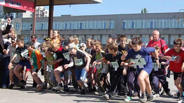 Školáci na startu.