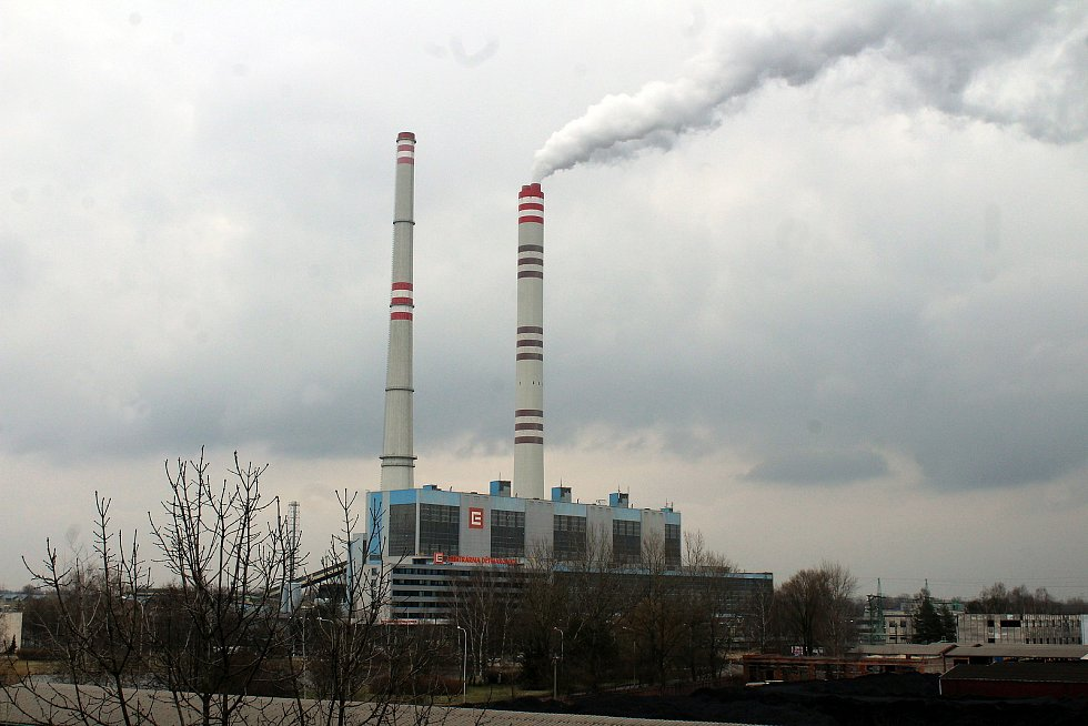 Dětmarovice. Komíny elektrárny.