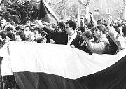 Také na Karvinsku vyšli v roce 1989 lidé do ulic a podpořili studenty.