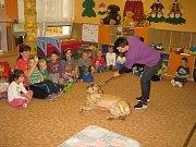 Předškoláci se seznamovali s pravidly chování ke zvířatům.