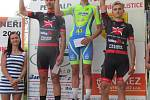 Na domácím závodu O cenu města Petřvald vystoupali na stupně vítězů i junioři CK Feso Vojtěch Kučera (vlevo) a Tomáš Swaczyna (vpravo).