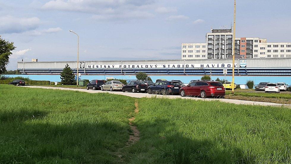 Prostřední Suchá. Fotbalový stadion MFK Havířov.