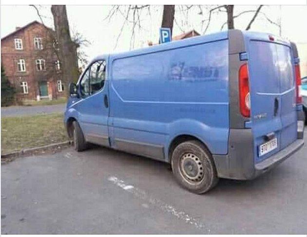 Vozidlo, ve kterém by se pohřešovaným muž mohl pohybovat.