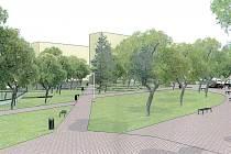 """Studie ukazuje, jak bude vypadat """"náhradní náměstí"""" nedaleko centra Orlové."""