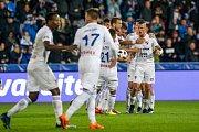 Fotbalisté Baníku se radují z Fleišmanova vyrovnání.