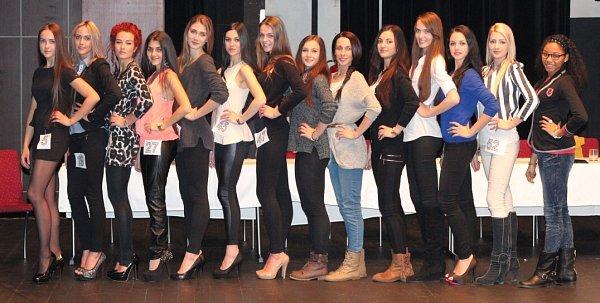 Finalistky a náhradnice pro Miss Reneta 2014.