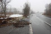 Místo tragické nehody šenovských dobrovolných hasičů v Karviné-Dolech.