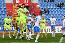 Fotbalisté Karviné zakončili sezonu 2020/2021 na hřišti Baníku Ostrava, kde remizovali 1:1.