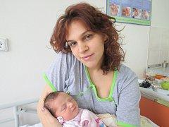 Viktorie Žákovská, 4. června 2013, Havířov, váha: 3,00 kg, míra: 50 cm
