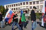 Protestní pochod Národní obrody v Havířově.