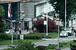 Policisté na místě činu v centru Havířova.