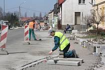 Stavba cyklostezky v Bohumíně.