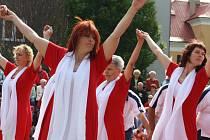 V Bohumíně se v sobotu konal slet Těšínské župy. Sokolové a sokolky předvedli skladby, které budou cvičit na celostátním sletu Sokola v červenci v Praze.