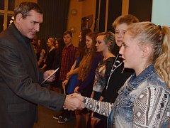 Ocenění bohumínských žáků, studentů a kantorů za úspěchy v roce 2015.