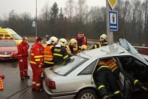 Zásah záchranářů u nehody v Orlové.