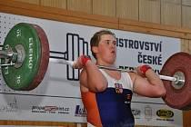 V Havířově proběhne republikový šampionát mužů a žen ve vzpírání. Na snímku havířovský Aleš Hackenberg.