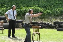 Střelecká soutěž strážníků a policistů na střelnici MP Havířov.
