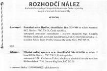 Rozhodčí nález ve sporu města Havířova a Městské realitní agentury Havířov.