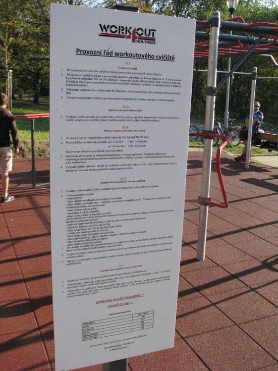 Workoutové cvičiště v centru Havířova. Provozní řád.