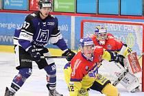 Tomáš Gřeš (v modrém) ještě v dresu havířovského týmu.