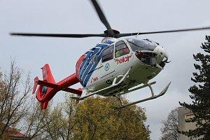 Letečtí záchranáři v Havířově
