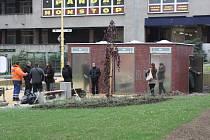 Veřejné toalety na náměstí TGM v Havířově-Šumbarku.