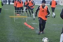 Marcel Cudrák během tréninku s Karvinou.