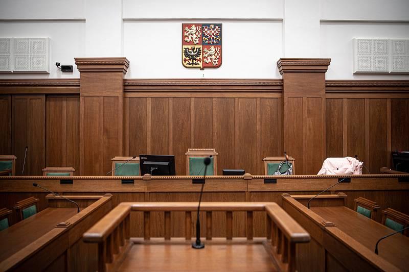 Soud s bohumínským žhářem Zdeněk K. na Krajskému soudu v Ostravě, 19. října 2021. Jednací síň číslo 7.