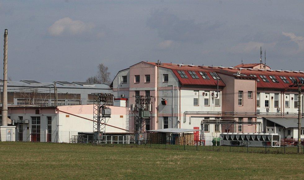 Petřvald. Pohled na továrnu na výrobu sladkostí a bonbónů.