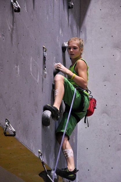 Na stěně podávala Eliška celoročně výborné výkony.