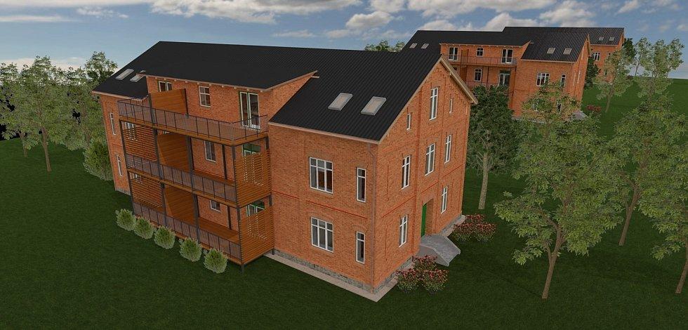 V Bohumíně schválili rozpočet, který počítá s více než čtvrtmiliardou na investice. Na snímku Vizualizace modernizovaných domů v červené kolonii.