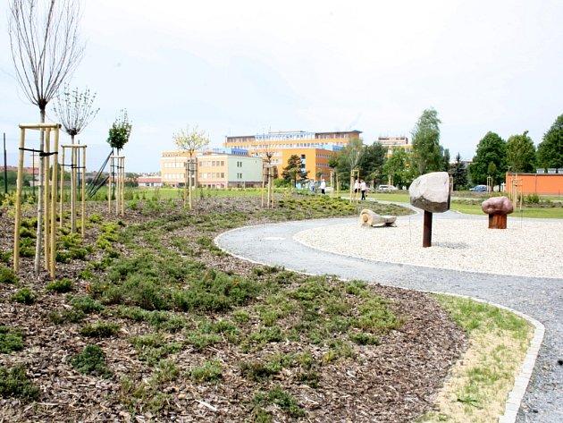 Nemocniční park v Havířově.