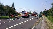 Tragická nehoda v Horní Suché.