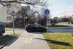 V Bohumíně na přechodu srazil vůz malého cyklistu. Foto z místa. Policie hledá svědky.