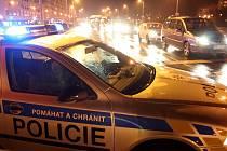 Policejní kontrola v centru Havířova.