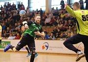 Házenkáři Baníku (v zeleném) si poradili v derby s Frýdkem-Místkem i podruhé.