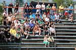 Své hráče přijeli do Třince podpořit také karvinští fandové.